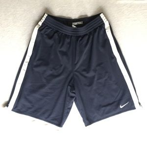 Nike Men's Basketball Shorts Navy Blue & White M